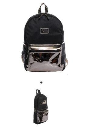 KAUKKO Kırtasiye Kulübü - Çanta Ve Kalem Kutu Seti 8-siyah
