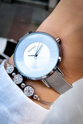 Homies Kadın Gümüş Kol Saati ve Bileklik
