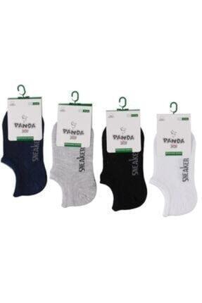 Panda Unisex Paket Sneaker Görünmez Babet Çorap 6'lı