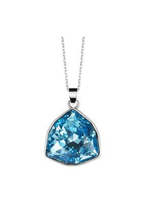 Merano Design Kadın Mavi Trilliant Swarovski Kristalli Kolye