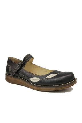Beta Hakiki Deri Kadın Siyah Sandalet