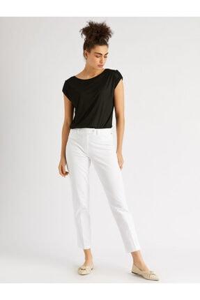 Vekem Kadın Beyaz Slim Fit Pantolon
