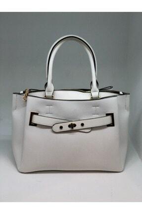 Kriste Bell Şık Çanta By M&m Beyaz Kemer Detaylı Günlük Kadın Omuz Çantası