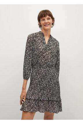 Mango Kadın Çiçek Desenli Fırfırlı Elbise