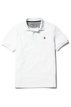 Timberland Kadın Beyaz Polo Yaka T-shirt