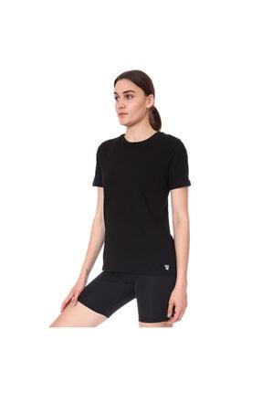 Sportive Spo-assymetric Tee Kadın Siyah Günlük Stil Tişört 712107-syh
