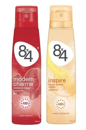 8x4 Modern Charme Deodorant Kadın 150 ml + Inspire Deodorant Kadın 150 ml