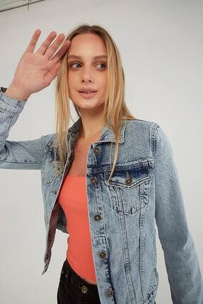 Fashion Friends Jean Ceket Mavi