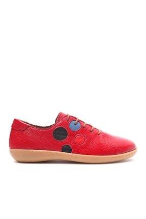 Beta Kadın Hakiki Deri Kırmızı Günlük Ayakkabı