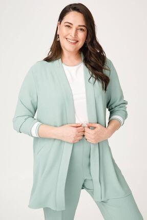 Moda İlgi Kadın Ribana Kol Ikili Ceket