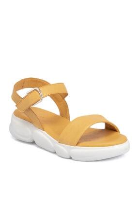 Tergan Kayısı Deri Kadın Sandalet 65685l9t