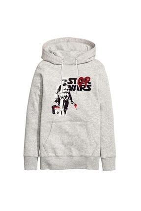 Art T-shirt Unisex Gri Stop Wars Tasarım Baskılı  Sweatshirt