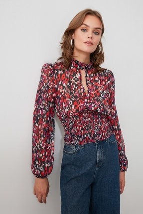 TrendyolMilla Çok Renkli Desenli Bluz TWOSS20BZ0096