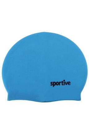 Sportive Unisex Su Sporu Malzeme & Aksesuar - Mavi Silikon Yüzücü Bere - 453070204MA