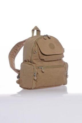 21K SMART BAGS Özel Kumaş Krinkıl Bayan Sırt Çantası Smart Bags 3077 Açık Kahve