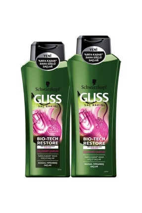 Gliss Bio-tech Restore Şampuan 525 Ml + Şampuan 360 Ml