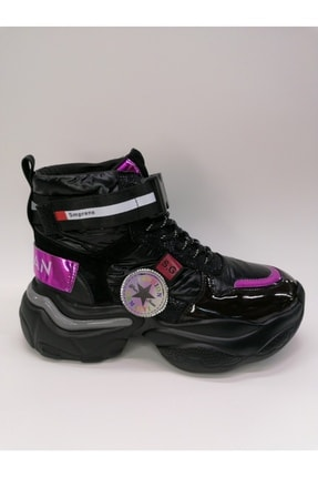 Guja Kadın Boğazlı Paraşüt Kumaş Kalın Taban Sneaker