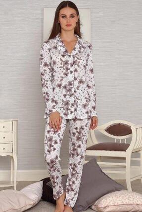 Tuğba Kadın Önden Düğmeli Pijama Takım