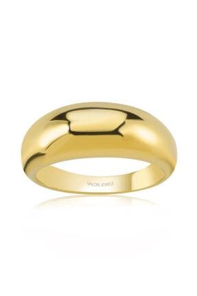 Valori Jewels Parlak Bombeli, Altın Rengi Gümüş Yüzük