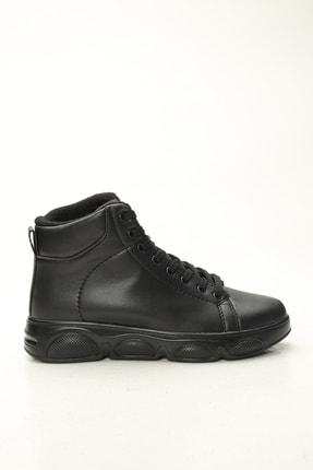 Ayakkabı Modası Kadın Siyah Uzun Spor Ayakkabı