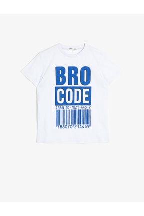 Koton Unisex Çocuk Beyaz Baskılı T-Shirt 0ykb16019ok