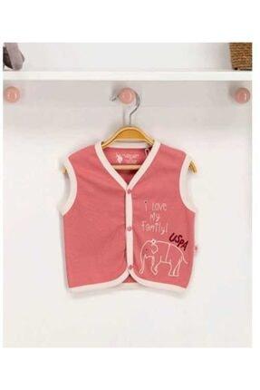 U.S Polo Assn. Kız Bebek Penye Yelek