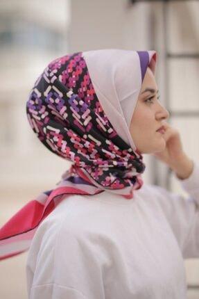 Sarar Kadın Pembe %100 Twil Ipek Eşarp