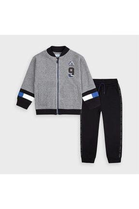 Küçük Erkek Çocuk Gri 2'li Eşofman Ve Sweatshirt Set 10-04818-010-800