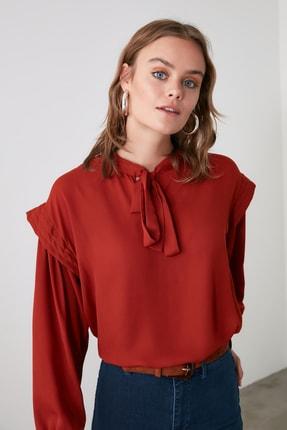 TrendyolMilla Tarçın Yaka Bağlamalı Bluz TWOAW21BZ0791