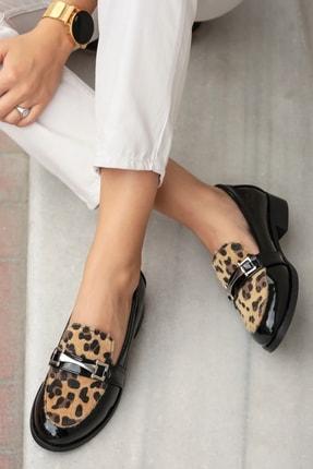 Mio Gusto Leopar Kadın Oxford Ayakkabı 02108LEO