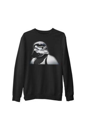 Lord Unisex Siyah Kalın Büyük Beden Sweatshirt