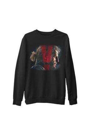 Lord Unisex Siyah Baskılı Kalın Büyük Beden Sweatshirt
