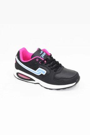 Jump 13953-b Siyah Fuşya Mavi Spor Ayakkabı