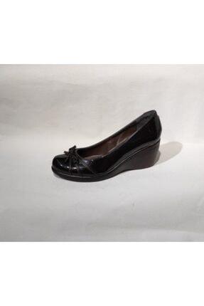 Polaris Anatomik Taban 7 Cm Dolgu Topuklu Kadın Babet Ayakkabı