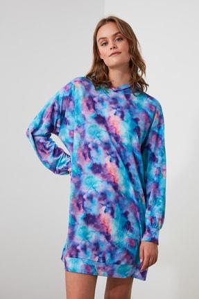 TrendyolMilla Batik Kapüşonlu Örme Elbise THMAW21EL2333