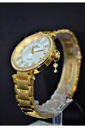 Nacar  Çelik Sarı Kadın Kol Saati