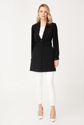 Moda İlgi Kol Piliseli Ceket Siyah