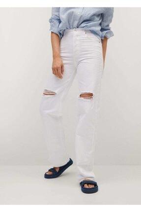 Mango Kadın Düz Kesimli Yüksek Bel Jean Pantolon