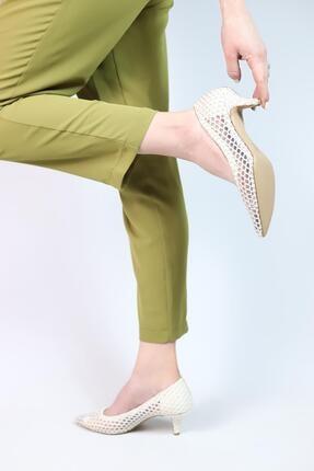 Kriste Bell Kadın Krem Abiye Ayakkabı