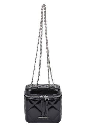 Kriste Bell Kadın Çapraz Çanta Siyah Rugan
