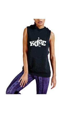 Art T-shirt Unisex Siyah Kobe Baskılı Hoodie Sweatshirt