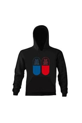 Art T-shirt Unisex Siyah Matrix Pills Tasarım Baskılı Sweatshirt
