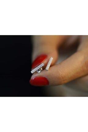 Midyat Gümüş Dünyası Kadın 925 Ayar Gümüş Zirkon Taşlı Küpe
