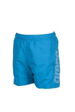 Arena Unisex Çocuk Mavi Fundamentals Logo Jr Şort
