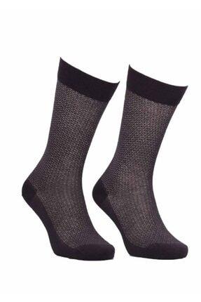 Jiber Kahverengi Bambu Çorap 550
