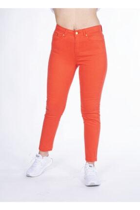 Vision Kadın Nar Çiçeği Yüksek Bel Jeans