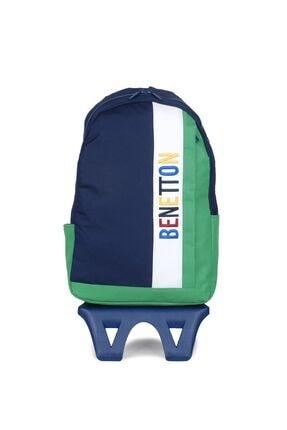Benetton Unisex Benetton Dikey Ön Cepli Tekerlekli Sırt Çantası 70066