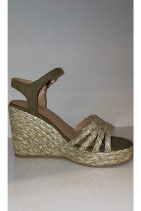 Kriste Bell Kadın Haki Topuklu Sandalet