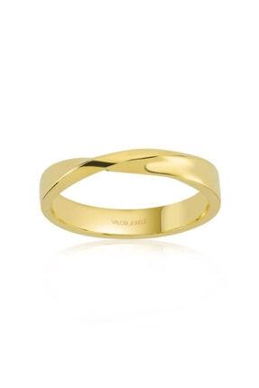 Valori Jewels Kadın Altın Rengi Aşk Bağı Gümüş Yüzük