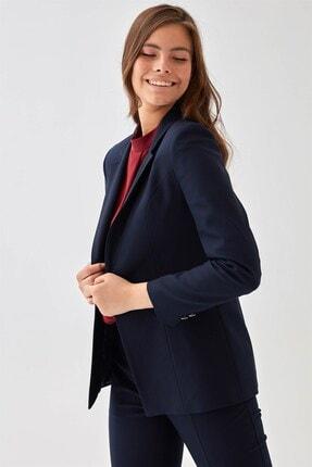 Chima Kadın Lacivert Tek Düğme Ceket